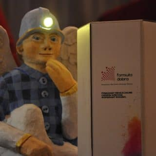 górnicy z ruchomej szopki
