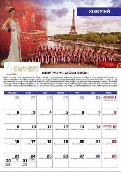 sierpien 2021 - Kalendarz Niesłyszących 2021
