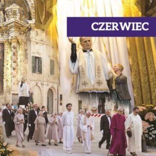 karta z kalendarza prezentująca procesję ku czci św. Filipa Smaldone