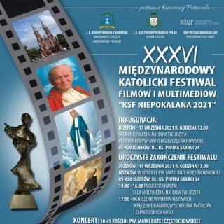 Plakat Festiwalu Filmów Niepokalana 2021