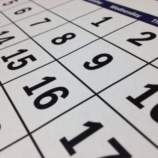 Tabela z kalendarium kalendarza